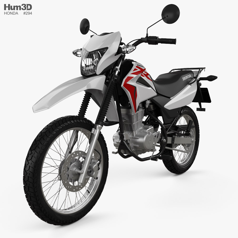 3d Model Of Honda Xr150 L 2020 In 2020 Honda 3d Model Stl File Format