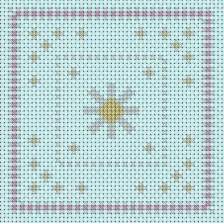 A Girl As Mad As Birds: April Biscornu and Fob - Free Cross Stitch Chart!