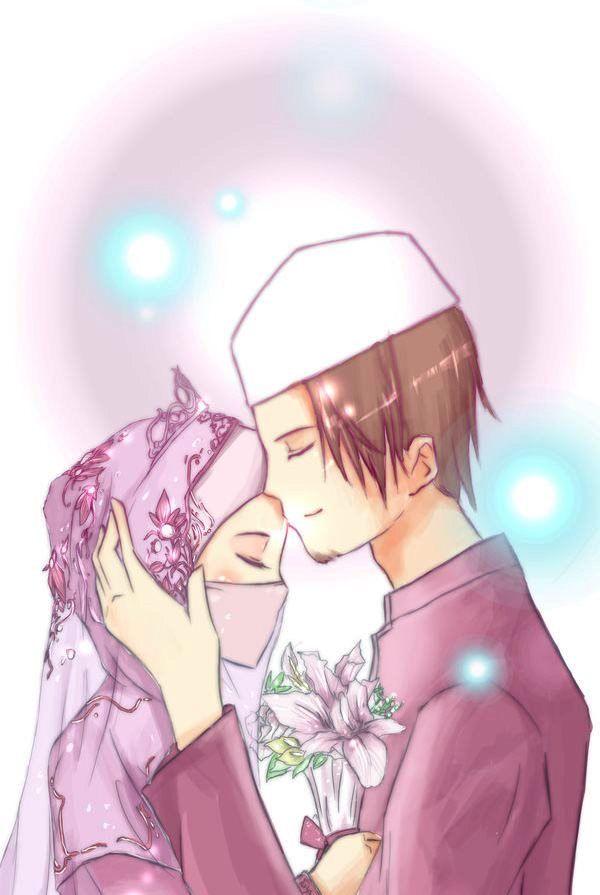 Wedding Islam Islamic Cartoon Anime Muslim Cartoon