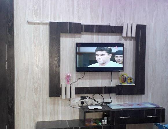 Tv Unit Bedroom Pvc Led Panel Design