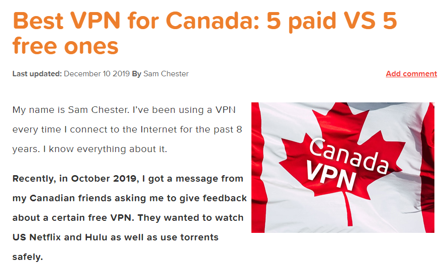 What Is The Best Vpn In Canada