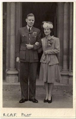 war weddings ~ an RCAF pilot and his bride