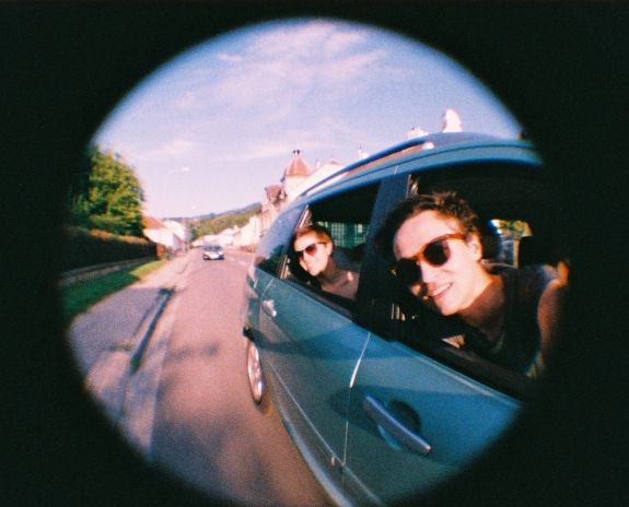 """A photo by """"dopic"""" - #Lomography  Fisheye Baby goes on a roadtrip with friends"""