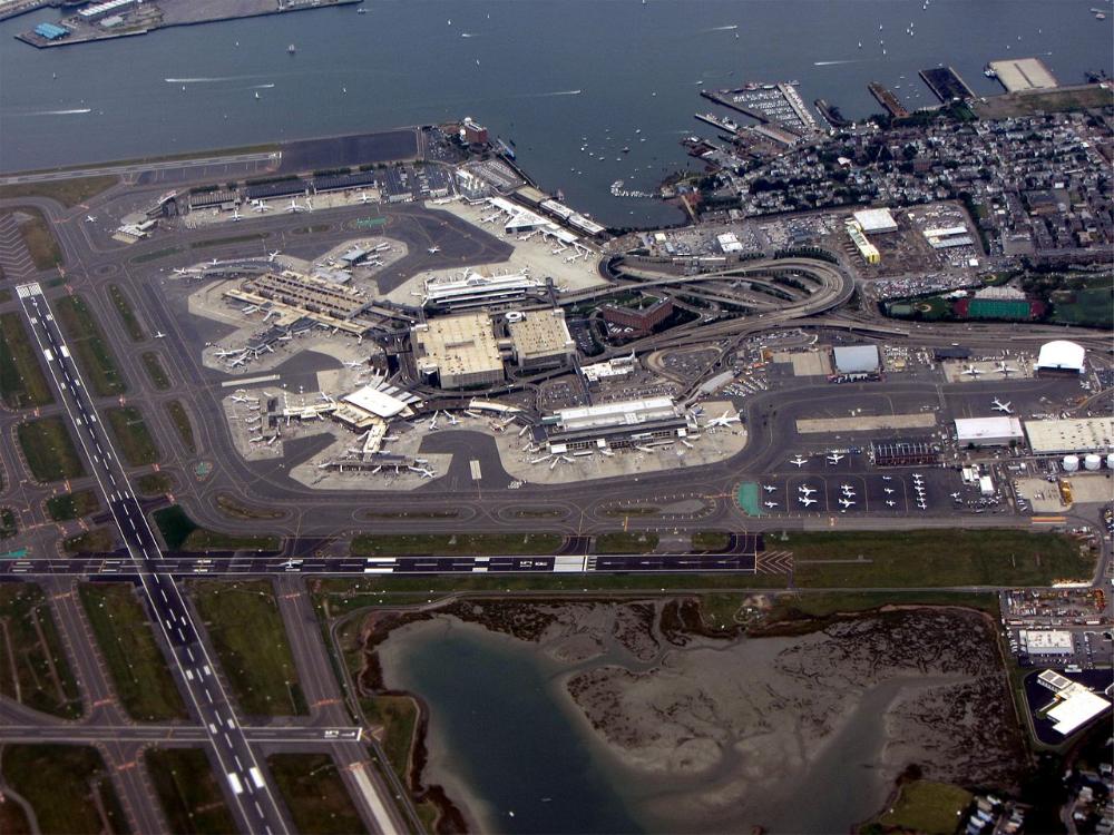 Logan Airport aerial view Logan International Airport