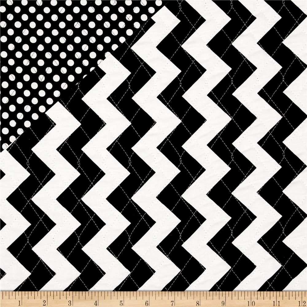 Riley Blake Double Sided Quilted Medium Chevron Black | sweet ... : double sided quilted fabric wholesale - Adamdwight.com