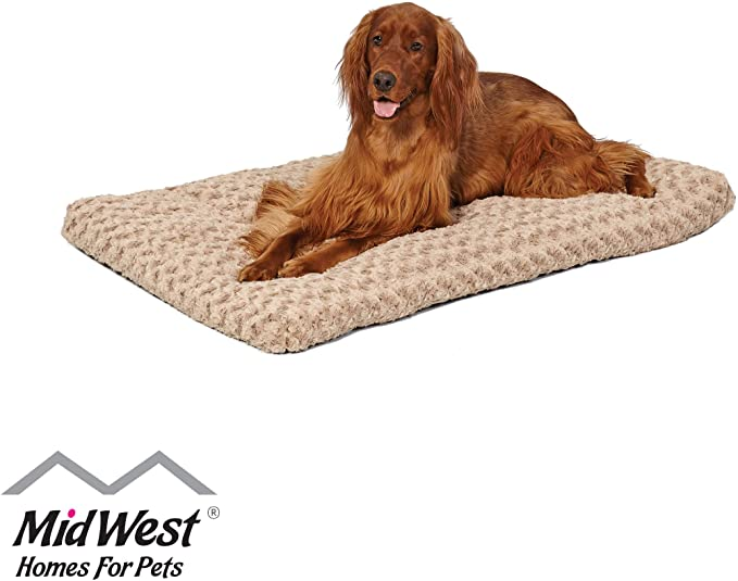 Amazon Com Plush Dog Bed Ombre Swirl Dog Bed Cat Bed Mocha 40l X 27w X 2 5h Inches For Large Dog Breeds Dog B Plush Pet