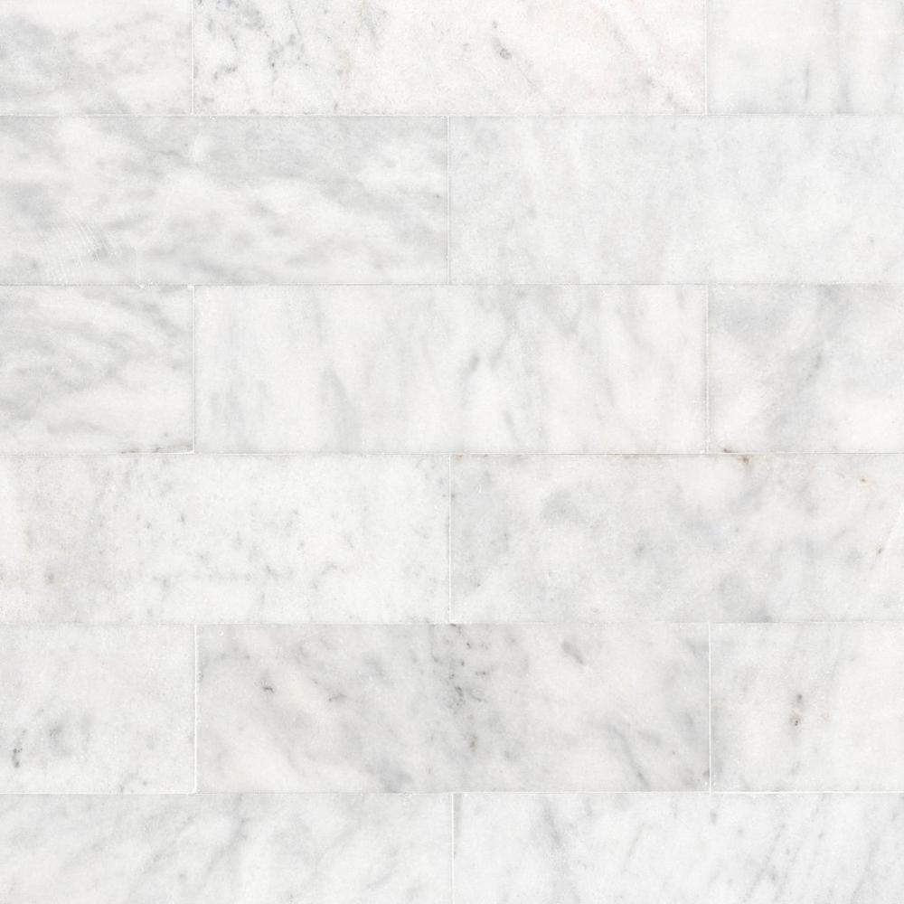 Carrara Milano Polished Marble Tile In 2020 Polished Marble Tiles Honed Marble Tiles Carrara Marble Tile