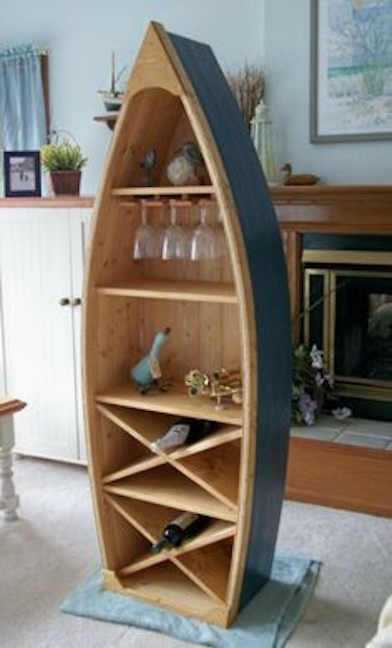 Six Coolest Ways To Repurpose A Canoe Nautical Furniture Wine