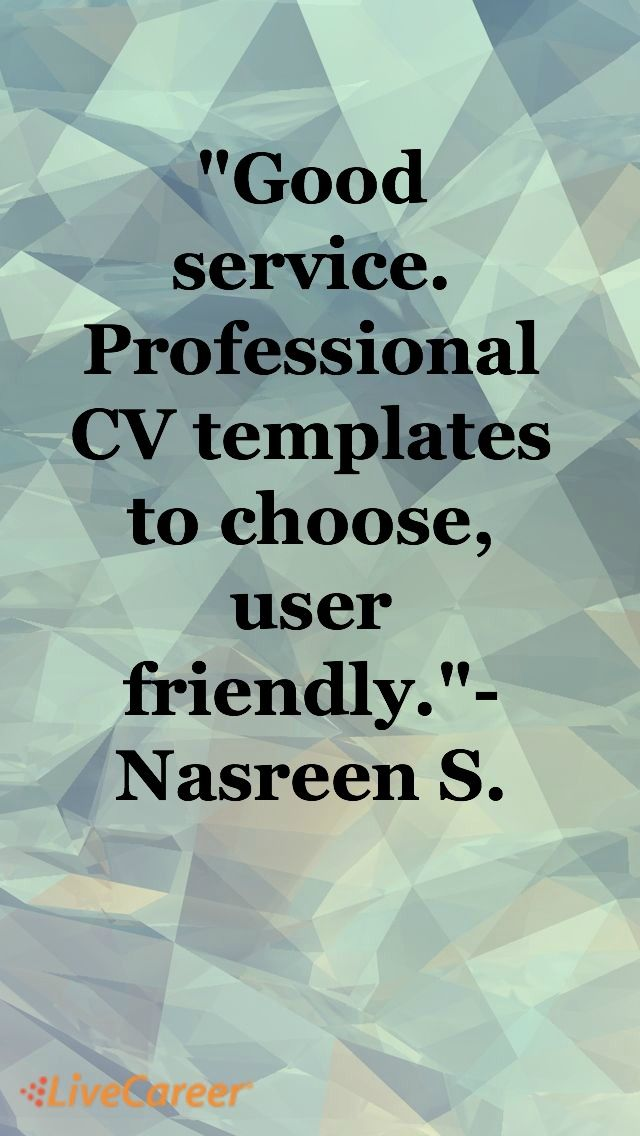 Good service Professional CV templates to choose, user friendly - livecareer sign in