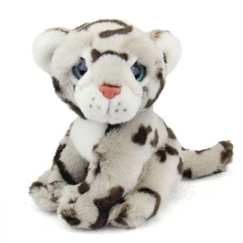 Big Eyed Stuffed Baby Snow Leopard Wild Watcher By Wild Republic