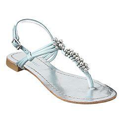 Nine West light blue rhinestone sandals