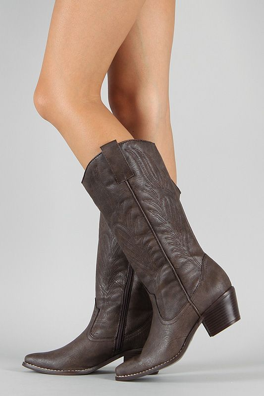Diva Lounge Tayla-01 Cowboy Knee High Boot $32.90