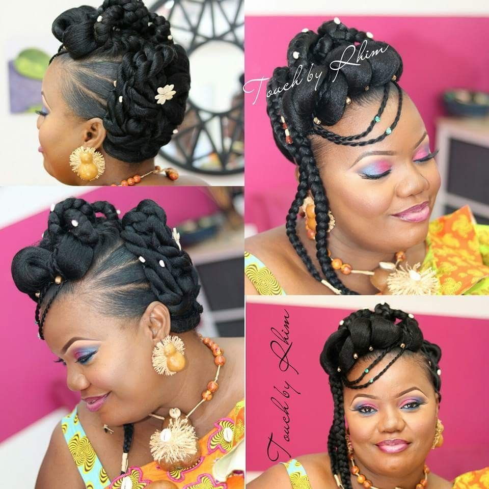 Pin By Annick Essi Nabang On Mariages Natural Hair Bun Styles Natural Hair Styles Natural Wedding Hairstyles