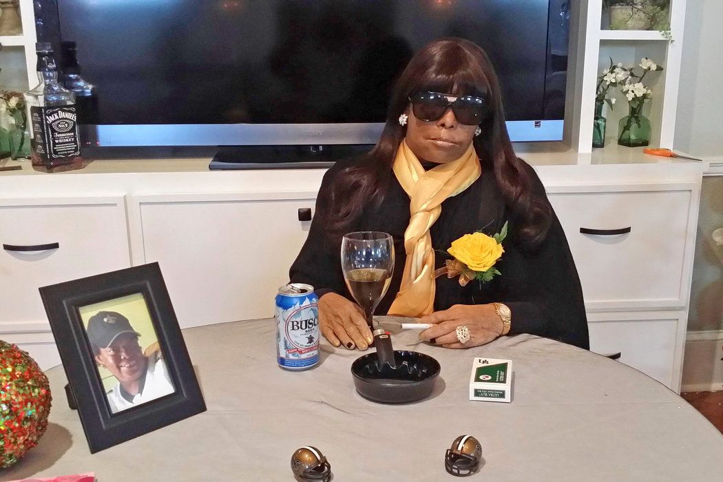 Funeral services in New Orleans and Puerto Rico pose the dead to play host at their own wakes, propped up in a familiar tableau.