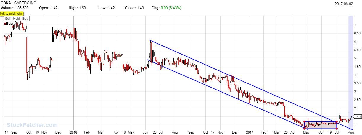 Swing Trades I'm in on today, 8-3/17 – WG and CDNA | Swing ...