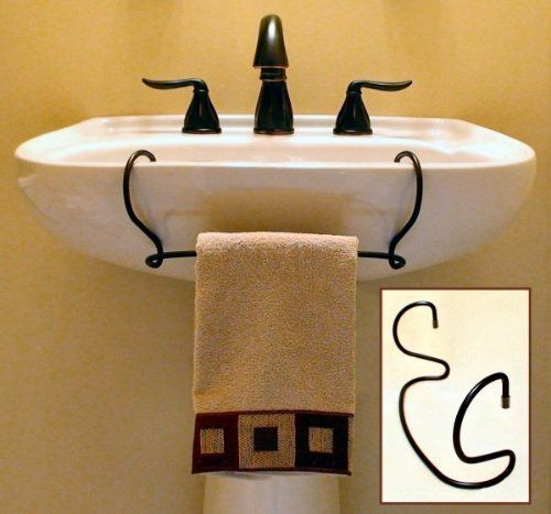 The Toweltender Tm Towel Bar For Pedestal Sinks Bronze By
