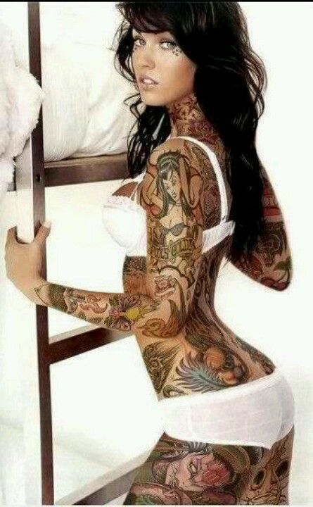 Megan Fox Full Body Tattoo Girl Tattoos Body Tattoo Design