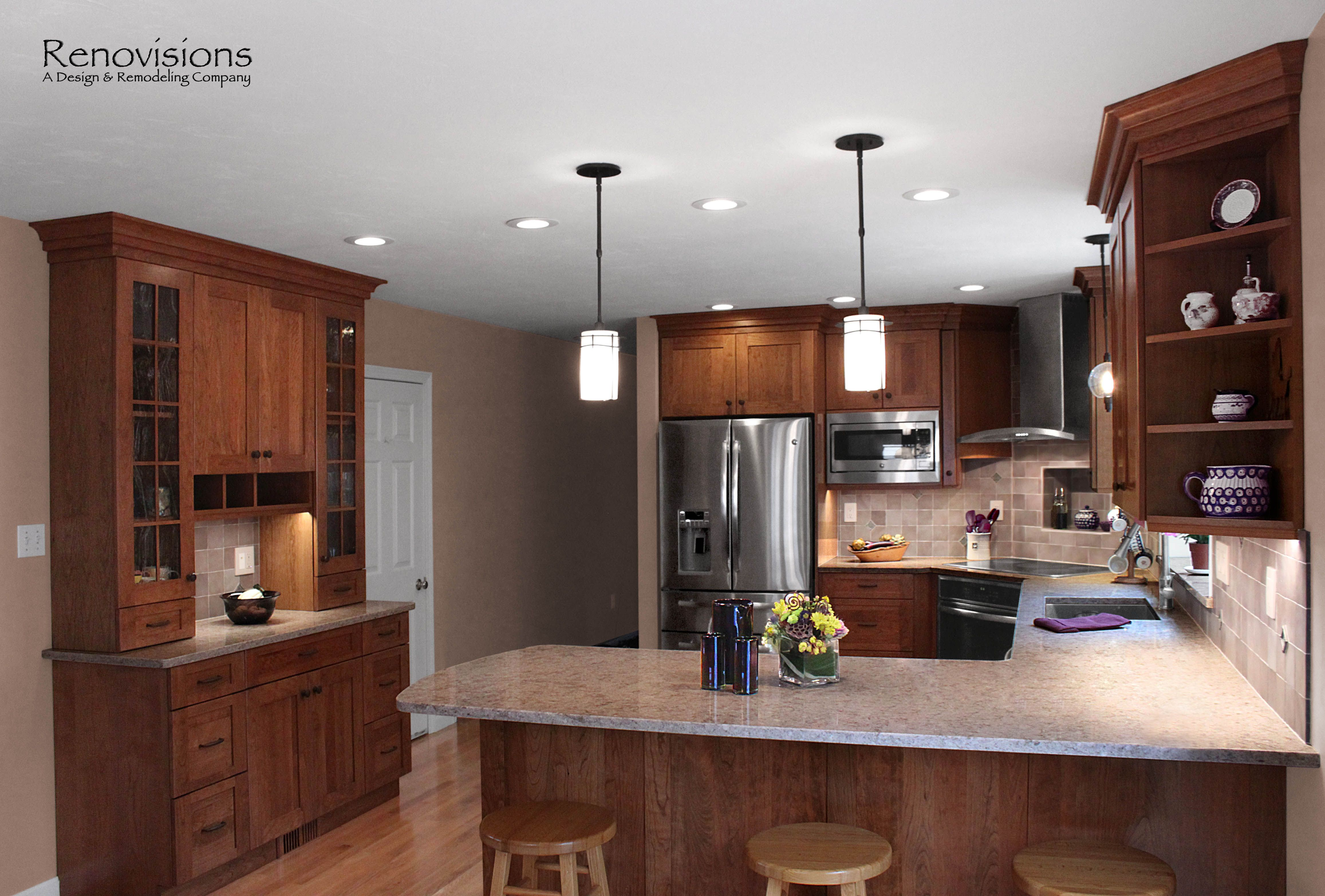shaker kitchen lighting kitchen remodel by renovisions induction cooktop 2174