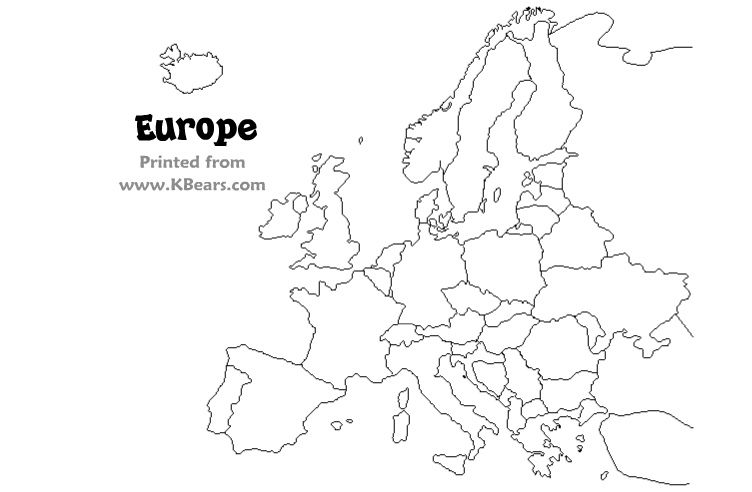 Click To Print Only The Map Europe Map Coloring Pages For Kids