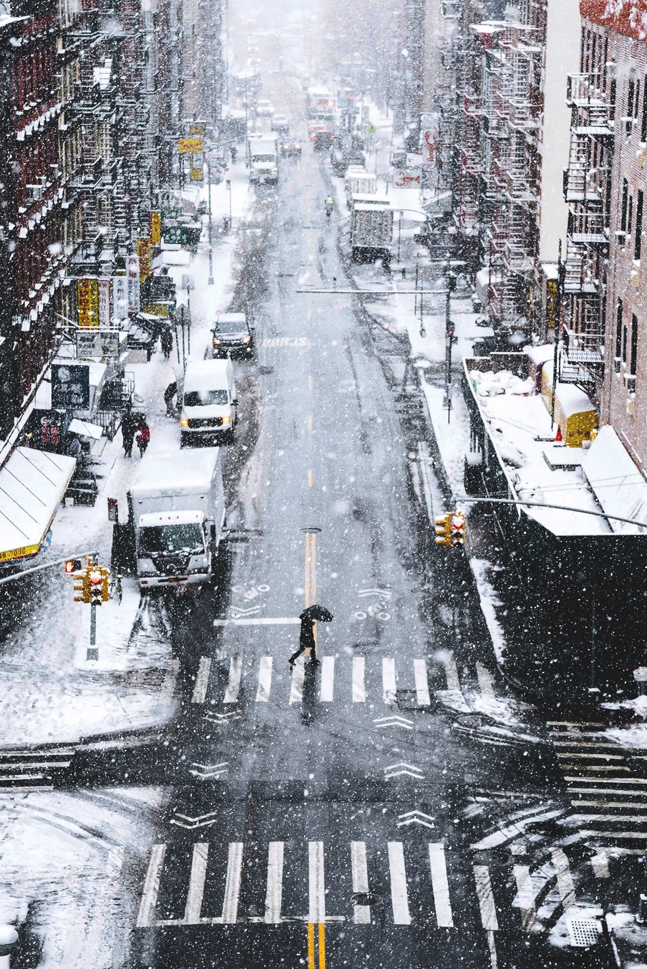 """souhailbog: """" Snow Days in NYC By Ryan Millier 