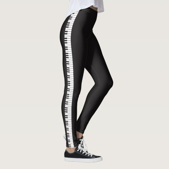 Piano Keyboard Leggings #piano #keyboard #keys #strings #music - Do you have ones like these? Probab...