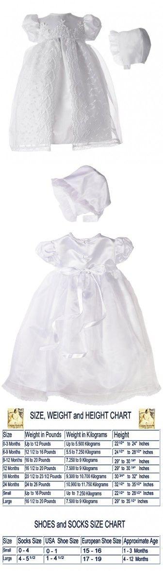 81f780ebb7 Lauren Madison baby girl Christening Baptism Newborn Embroidered Satin Dress  Gown