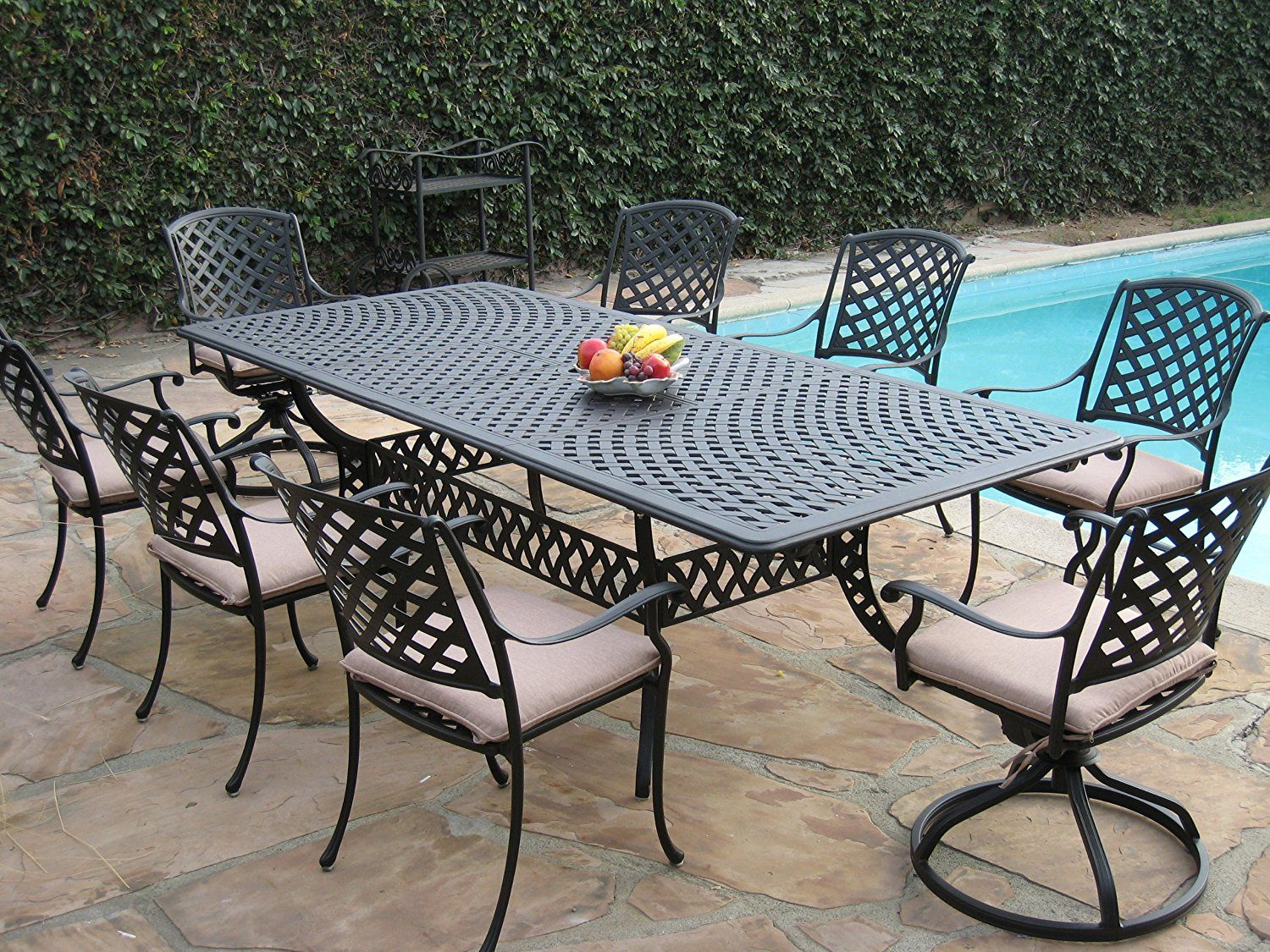 patio extensions 2. Cast Aluminum Outdoor Patio Furniture 9 Piece Extension Dining Table Set With 2 Swivel Rockers * Details Can Be Found By Clicking On The Image. Extensions O