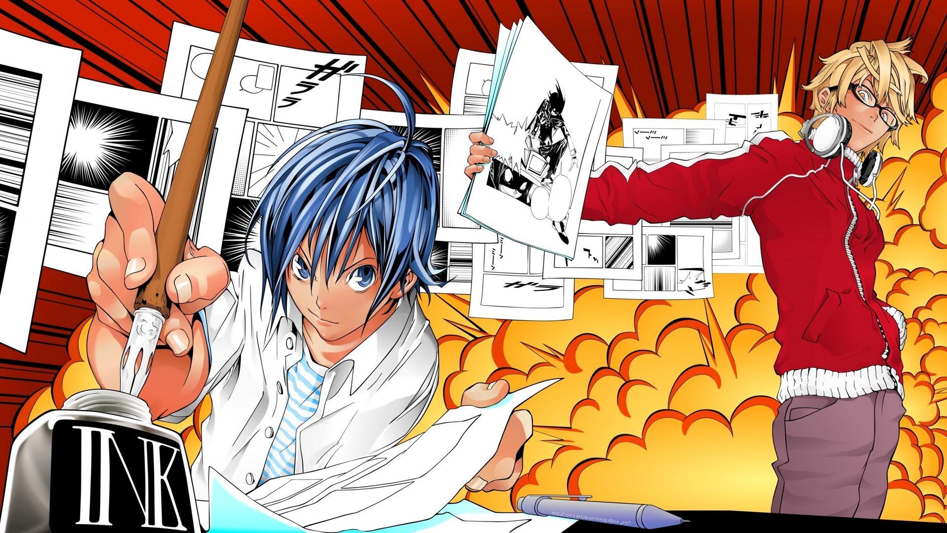 Bakuman 1920x1080 di 2020 Manga