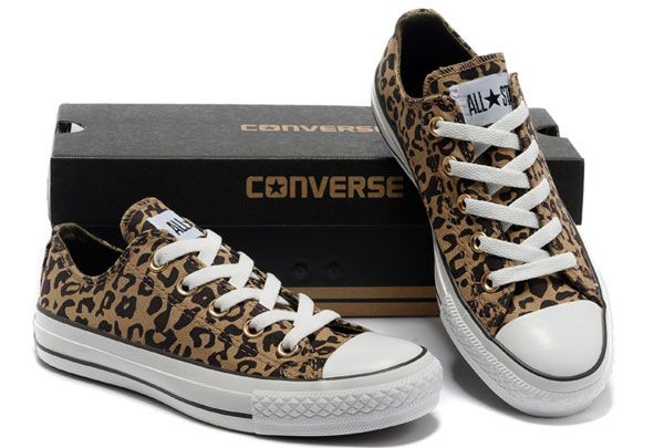 converse canada - Brown Converse All Star Rock N Roll Leopard Print Canvas  Low Tops Women's