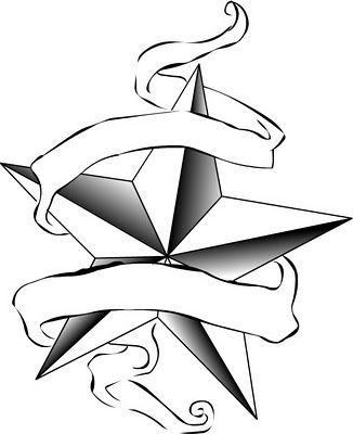 Star Black And White Tattoo Clipart Clipart Star Tattoos Star Tattoo Designs Nautical Star Tattoos