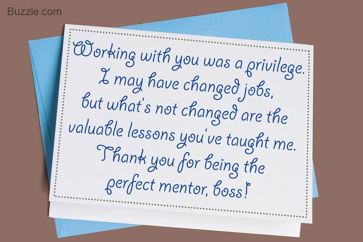 Smart Tips on Writing a Thank You Note to Your Boss  Goodbye
