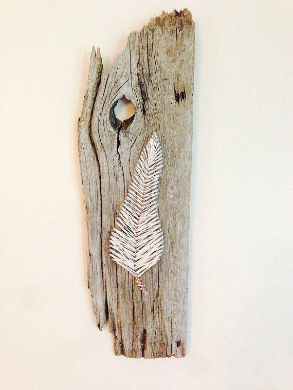 diy feather string art. Black Bedroom Furniture Sets. Home Design Ideas