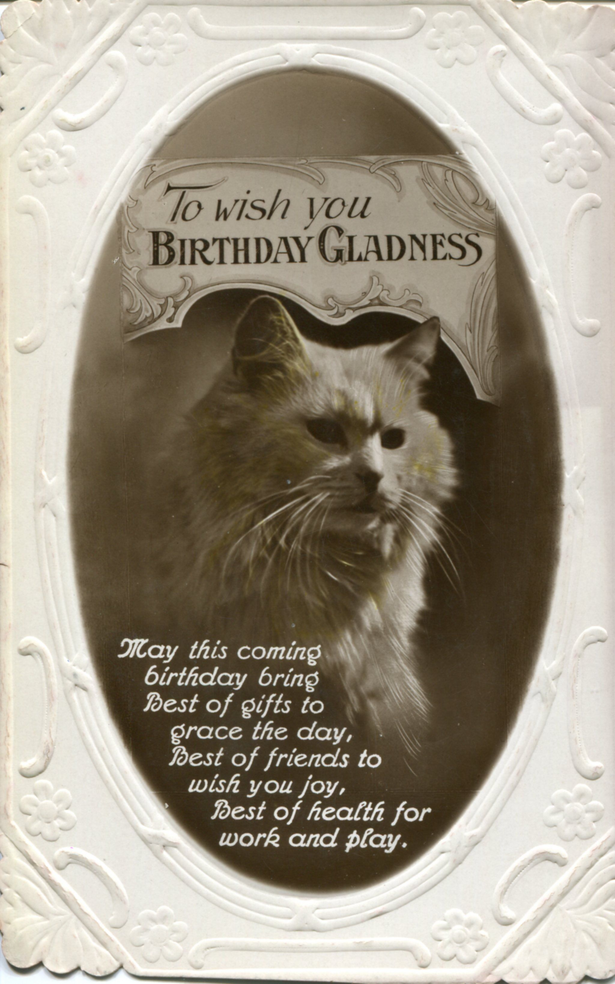 Vintage Birthday Postcards Featuring Animals – Birthday Post Cards