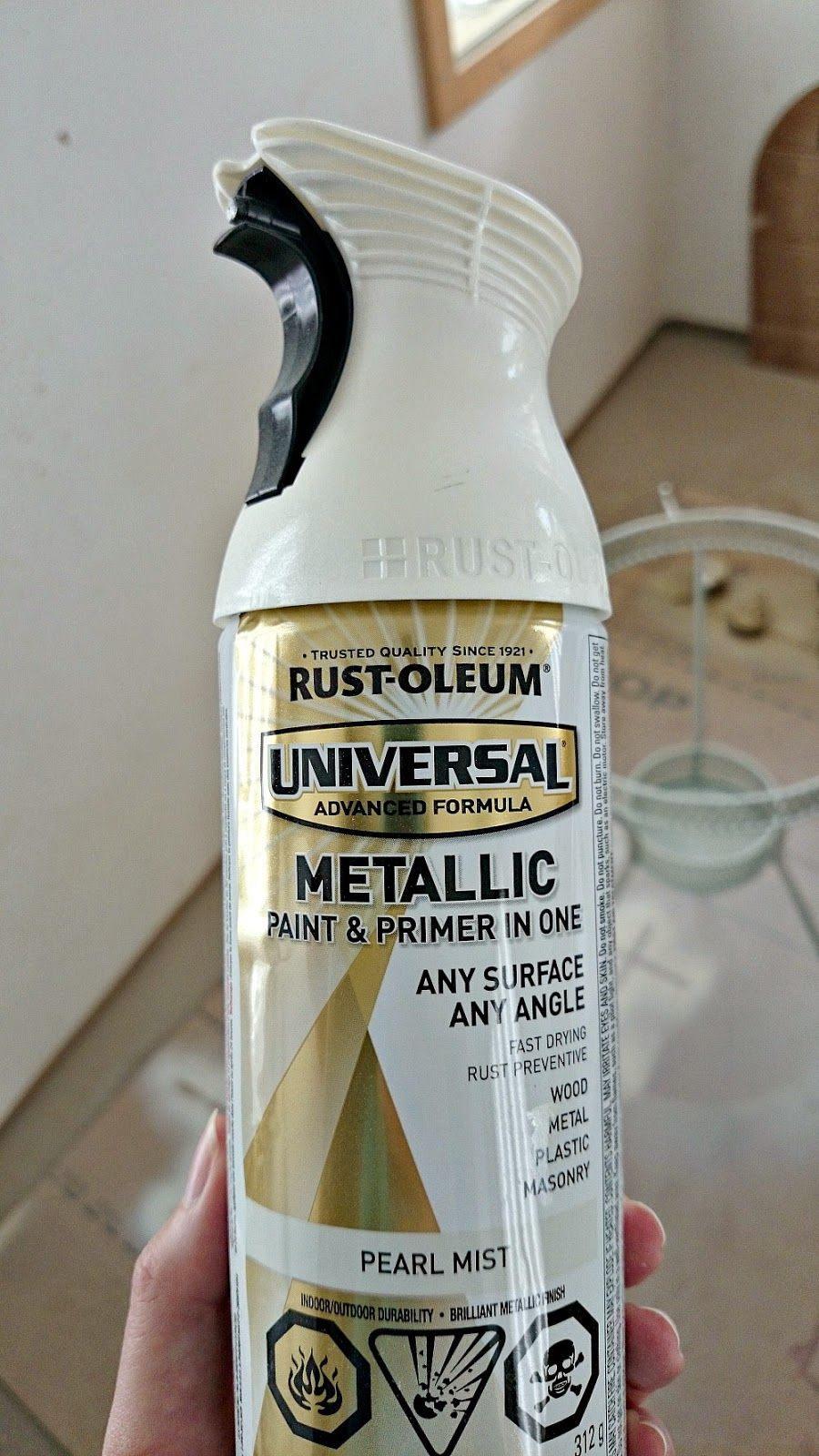 Tips For Using Rust Oleum Universal Metallic Pearl Mist Spray Paint Hint It 39 S Very Sheer