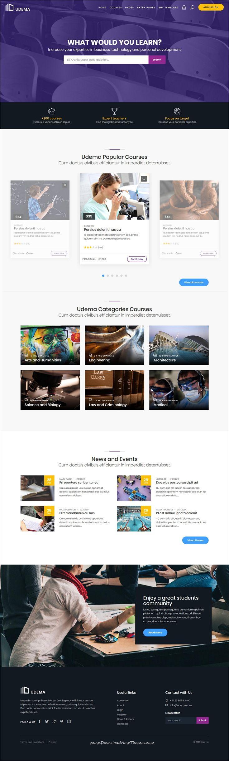 udema modern educational site template