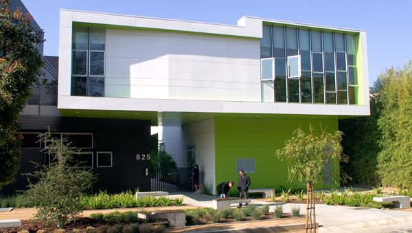 The building design and color scheme here would work very well for  technology company or fitness facility green is modern symbolizes also rh pinterest