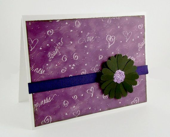 Purple Note Cards set of 6, blank notecards, purple lover card - purple note cards