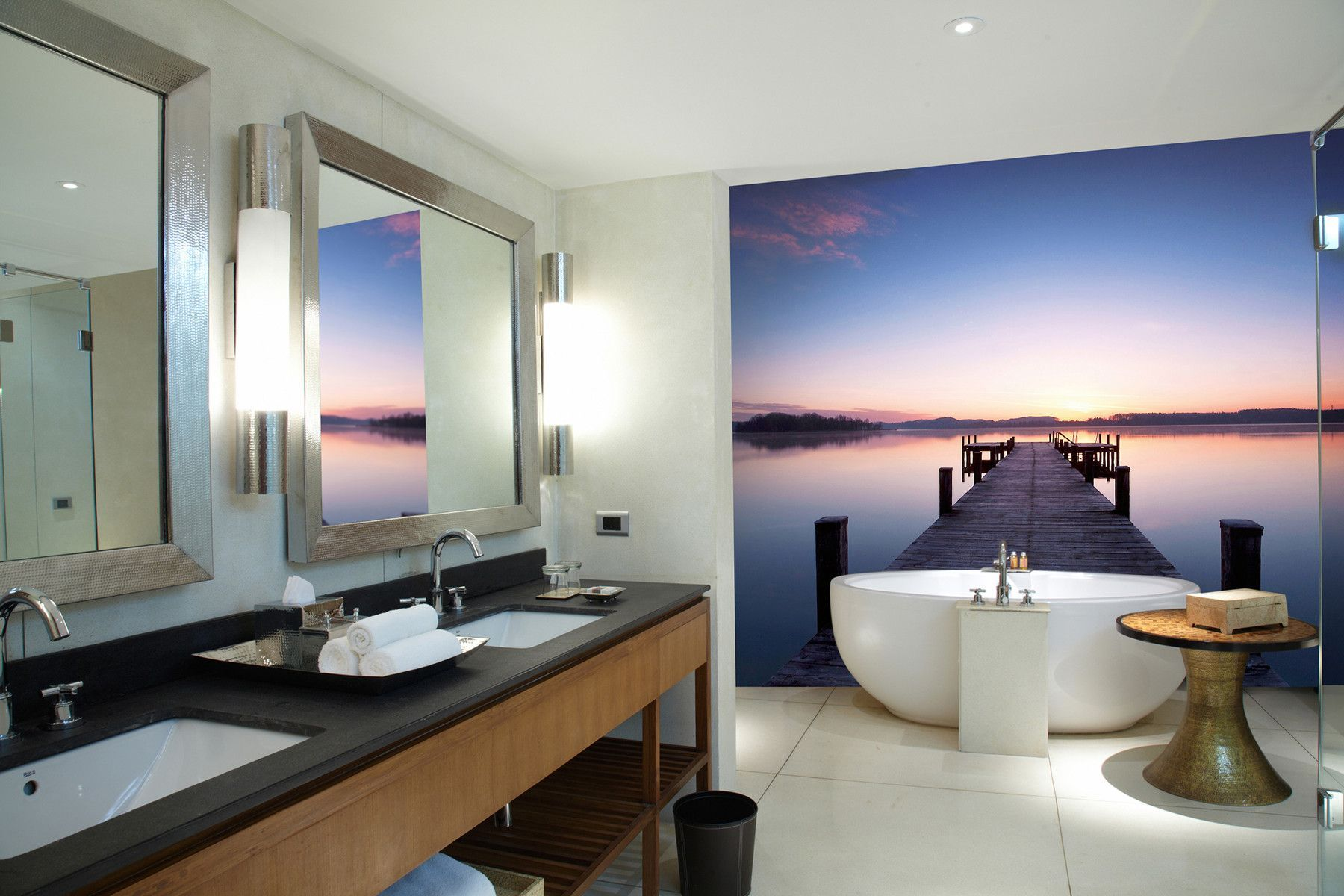 Ideal Decor Pier at Sunrise 12 x 100 Wall Mural Wall murals and