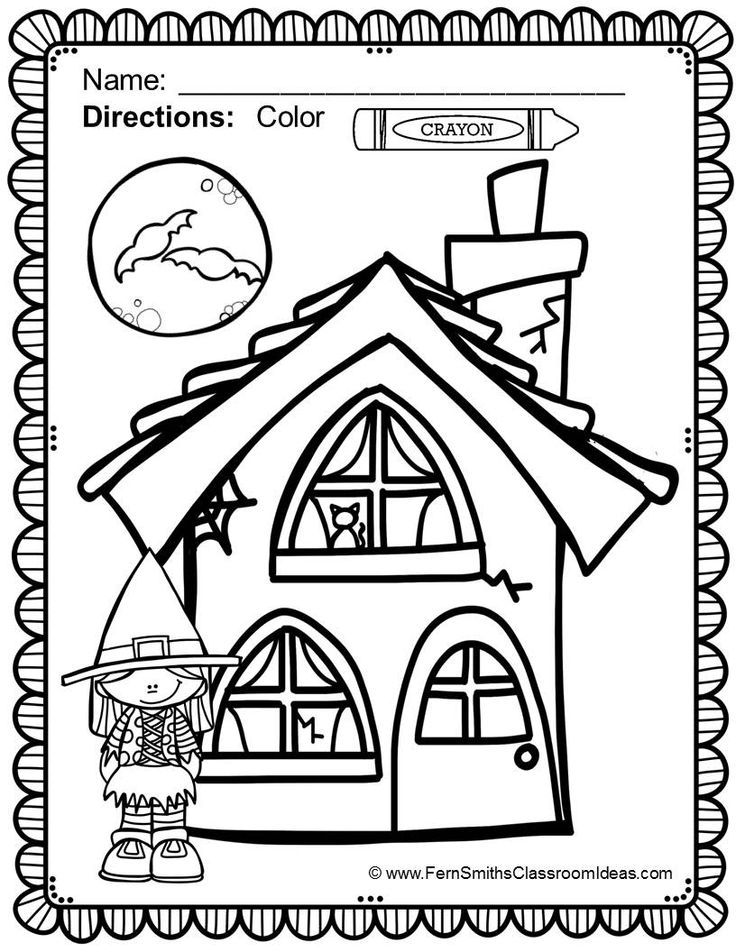free halloween coloring page in the preview download halloween fun color for fun - Halloween Fun Pages Printables