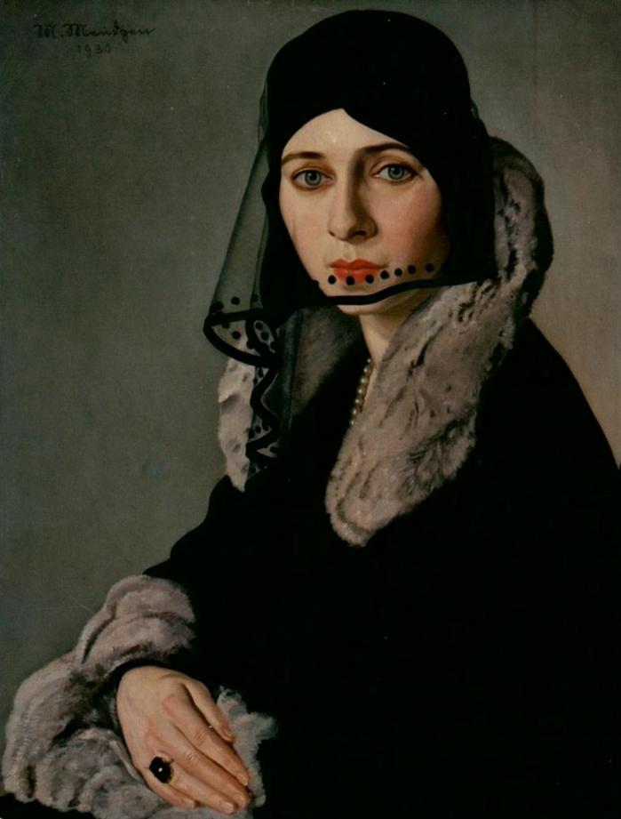 Portrait by Martin Mendgen (1893-1970), 1930, Lady in Mourning