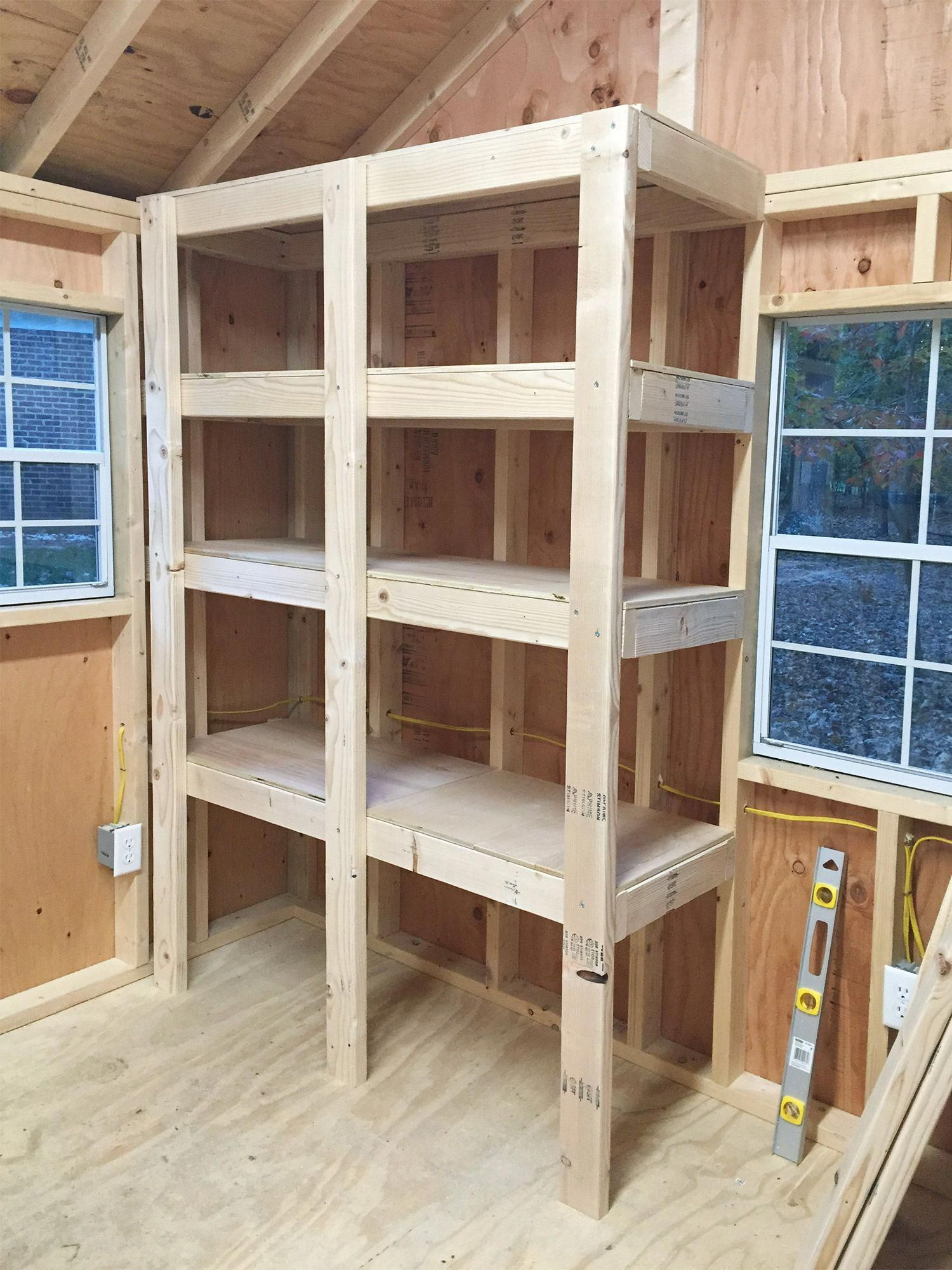 Diy Wood Shelves Shed Shelving