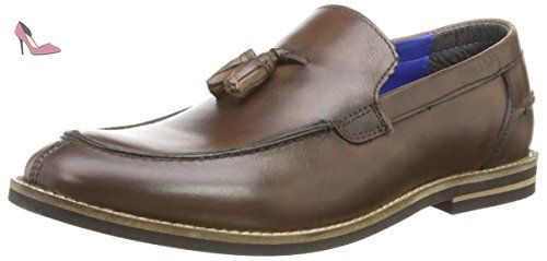 Red Tape Slaney, Mocassins Homme - Marron - Brown (Burgundy 02), 43