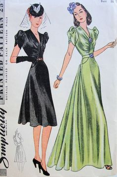 Women's Belted Evening Dresses 1940s