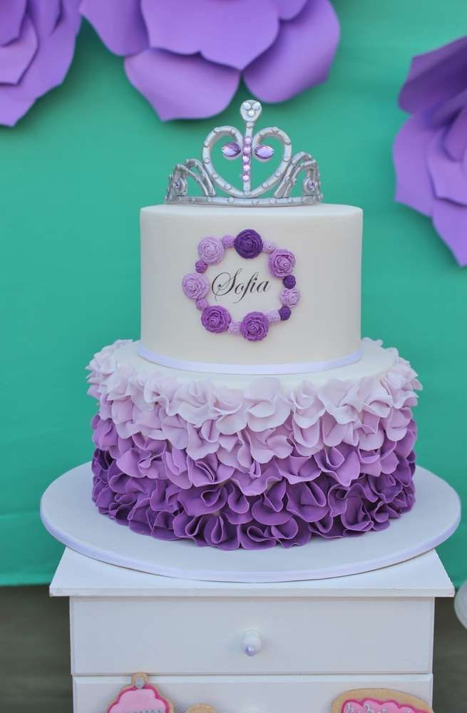 Pin By Ana Estrada On Cakes Pinterest Sofia Party Birthdays And