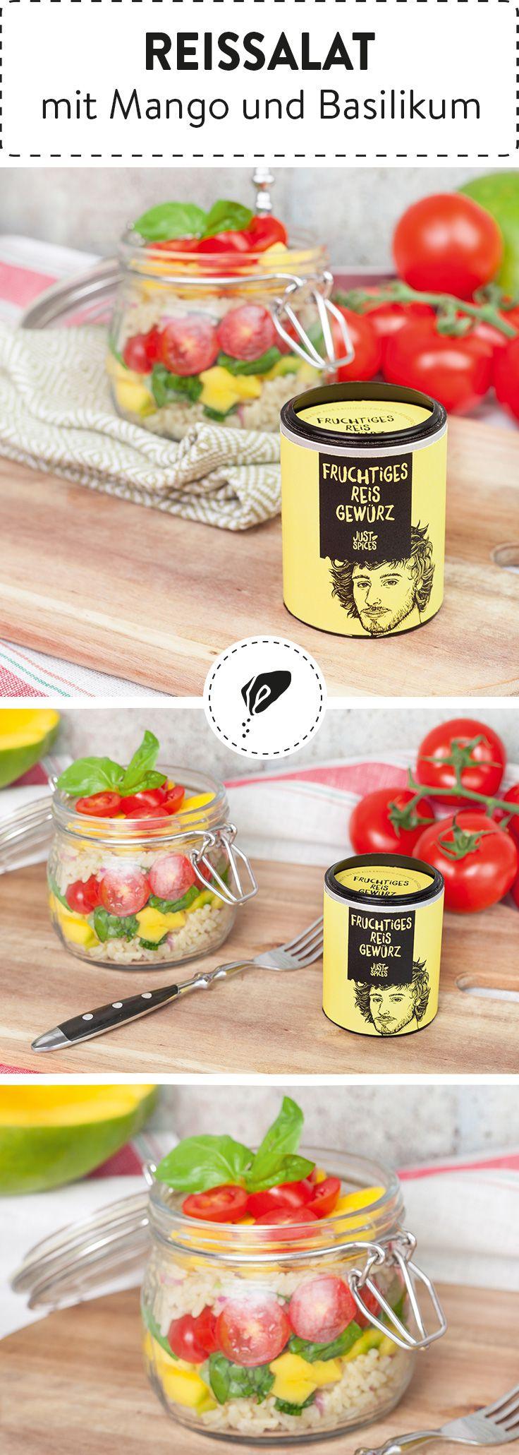 fruchtiger reissalat mit mango und basilikum food pinterest reissalat gesundes. Black Bedroom Furniture Sets. Home Design Ideas