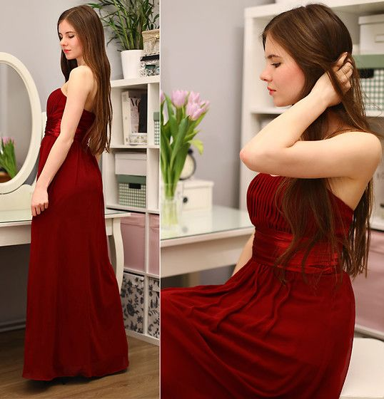 Pin by Gabriela Maria on Clothes   Pinterest   Red maxi dresses, Red ...
