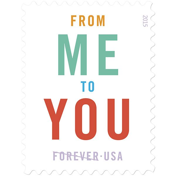 USPS Stamps From Me To You Usps stamps, Forever stamps