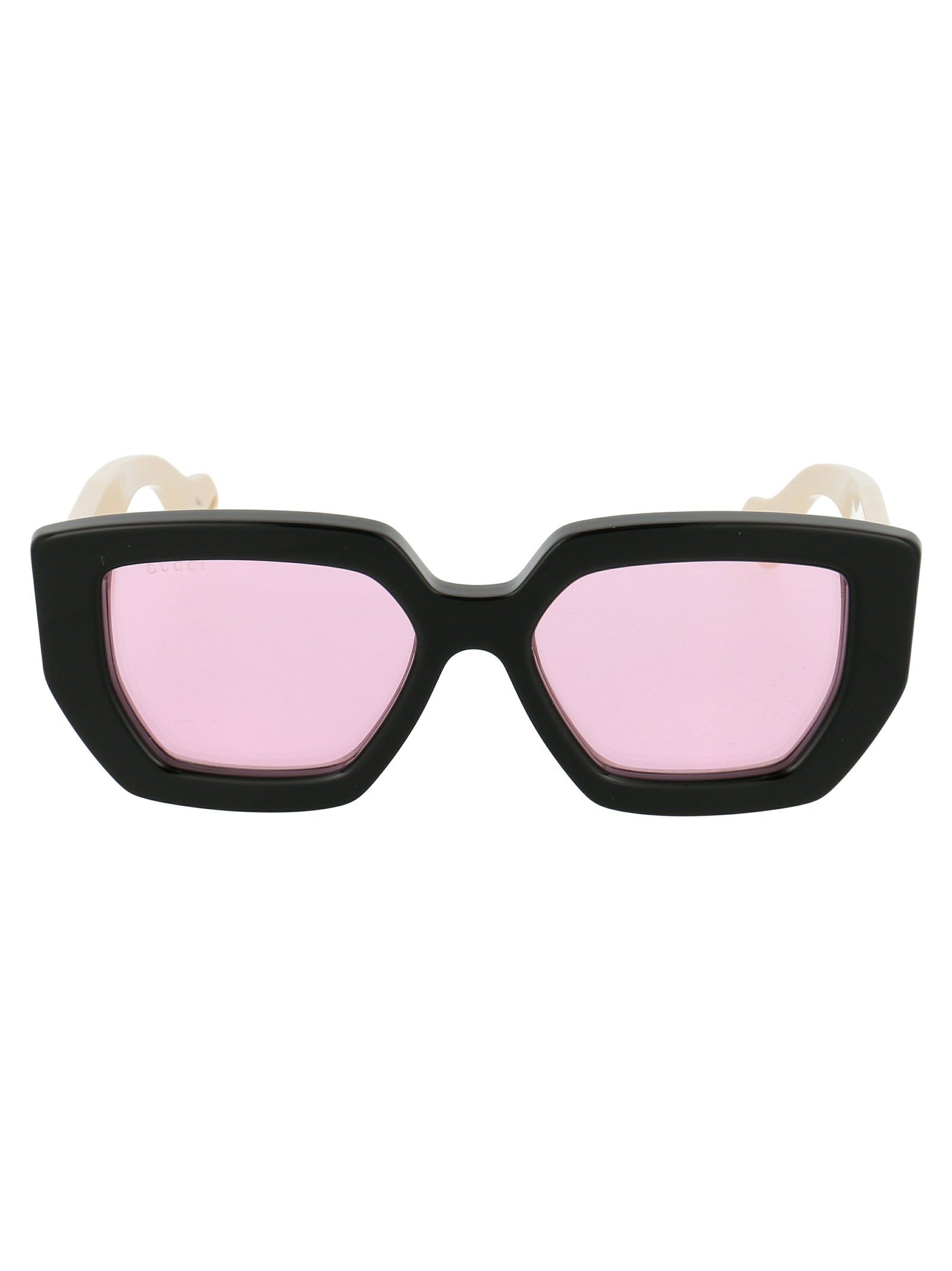 GUCCI GUCCI EYEWEAR HEXAGON SUNGLASSES. #gucci