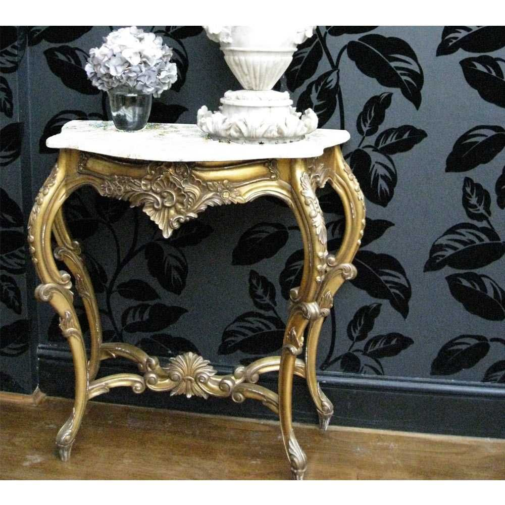 versailles gold shabby chic console table small gold french rh pinterest com