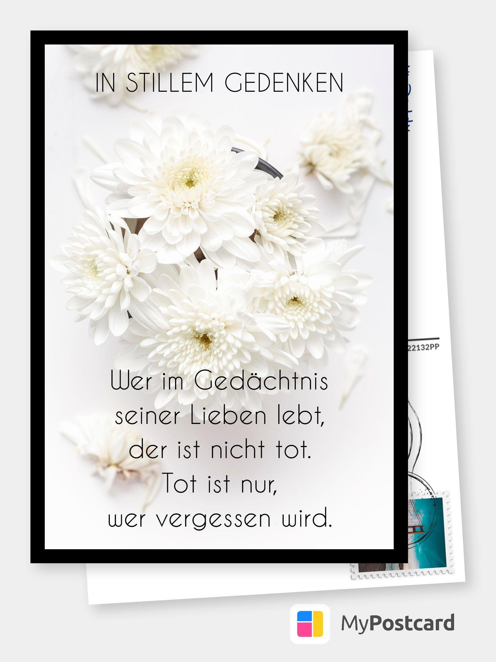 Im Gedächtnis seiner Lieben   Trauerkarten 😔💌   Echte Postkarten ...